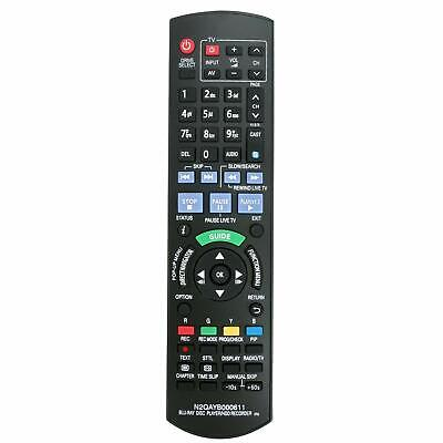 N2QAYB000611 Remote Control for Panasonic DVD Recorder DMR-PWT500GL DMRPWT500GL