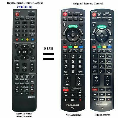 N2QAYB000494 N2QAYB000747 Remote for Panasonic LCD TV TH-P60UT50A TH-P60UT50Z