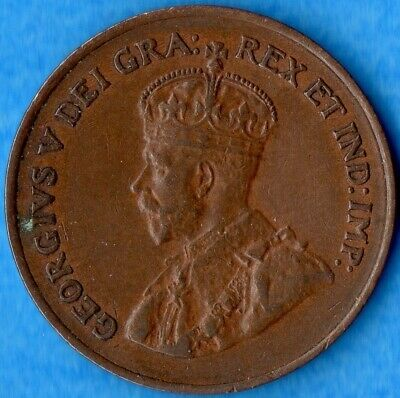 Canada 1926 1 Cent Small Penny Coin - EF
