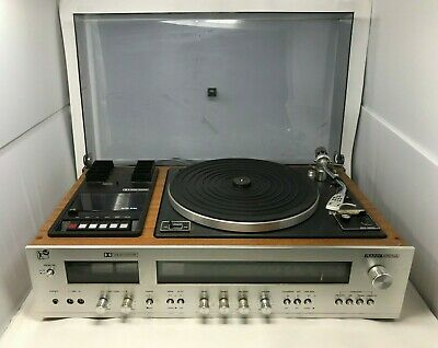 Vintage Rank Arena RA305 Turntable Record Player AM FM Receiver