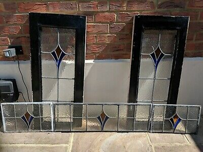 Vintage Stained Glass Windows 1930's Front Door set