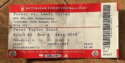 Nottingham Forest v Leeds United Sky Bet Ticket 26/8/17 (2017-2018) Home End