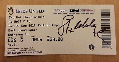 Leeds United v Hull City FLC ticket 23/12/17 (2017/2018) **Signed Steve Hodge**