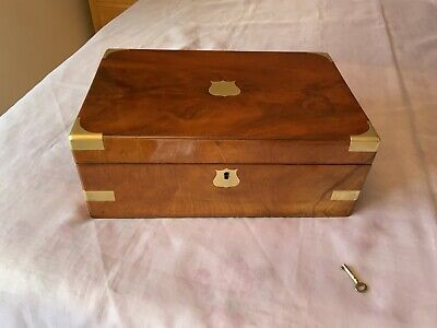 Victorian Writing Slope/ Box With Working Lock & Key