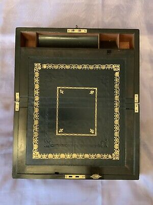 Edwardian Writing Slope/ Box With Working Lock & Key