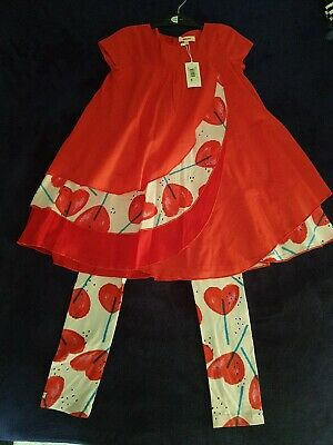 Catimini Dress/Top And Leggings Set Age 7-8 years