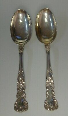 Gorham Sterling BUTTERCUP Oval Soup Dessert Spoons SET OF TWO (H or F Mono)