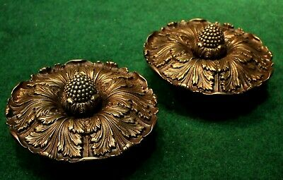"Extra Large Pair Sheryle Wagner or Guerin HOLLYWOOD Door Knobs 7"" Reclaimed Ant."