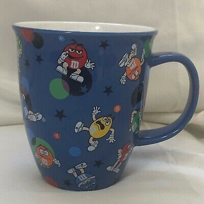 Rare / Collectible Blue M&M's Mars Coffee Mug With Characters