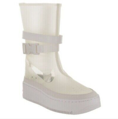 NIKE WOMENS AF1 Sage HI LX Boot Clear With Carry Bag Rare Sz