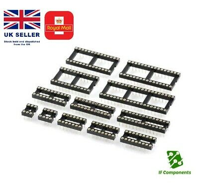 IC Sockets 6 8 14 16 18 20 28 32-48 Pin DIL DIP Precision//Turned Open Frame PCB