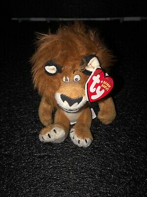 Alex New Madagascar Escape 2 Africa Beanie Baby Ty The Lion