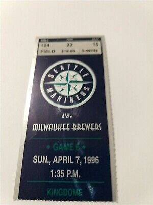 Milwaukee Brewers at Seattle Mariners Ticket Stub 4/7/96