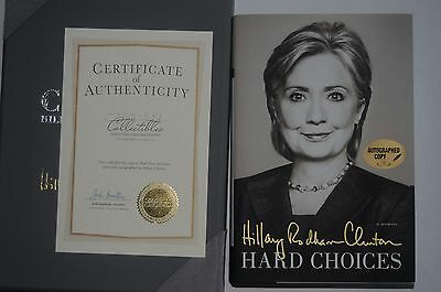 SIGNED Hillary Clinton Hard Choices Numbered + Leather+ COA President Bill POTUS