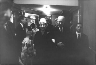 """Dwight David """"Ike"""" Eisenhower with other people. - Original Vintage photograph"""