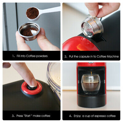 For LAVAZZA A MODO MIO Machine New Stainless Steel Reusable Coffee Capsules Kit