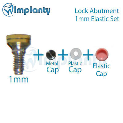 Lock Abutment Elastic Silicone Set 1mm Dental Implant Titanium Internal Hex