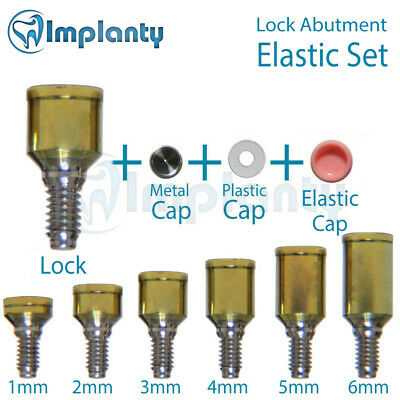 Lock Abutment Elastic Silicone Set Dental Implant Titanium Internal Hex