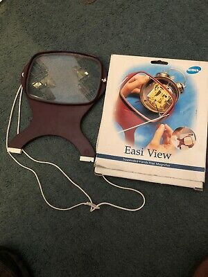 COIL Easi-View HANDS FREE Magnifier for Reading/Crafts with Neckcord