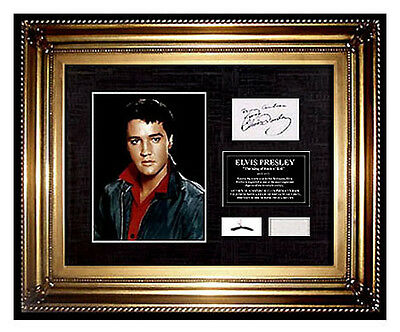 ELVIS PRESLEY Hair Lock CHARITY Signed COA letter Memorabilia Relic ART Music