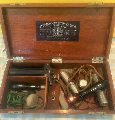 Vintage Quack Medical Device Chloride of Silver Dry Cell Battery Co Baltimore MD