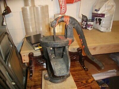 antique #2 red jacket co. davenport, iowa, hand pump cast iron counter mount