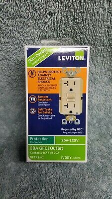 Leviton Self Test GFCI Receptacle, Ivory, 20 amps ( 078477708194 )