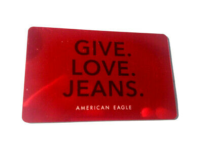 American Eagle Gift Card Give Love Jeans Red No Value Rechargeable