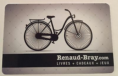 RENAUD-BRAY Limited Ed bicycle Gift Card New No Value *french*RECHARGEABLE*