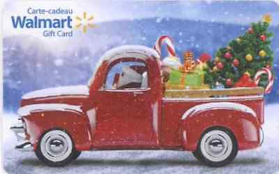 Walmart Canada 2017 Christmas Santa Truck, new collectible Gift Cards No Value