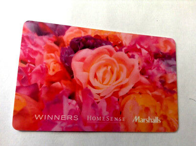 Winners Marshalls HOMESENSE CARD FLOWERS BILINGUAL NO VALUE RECHARGEABLE !