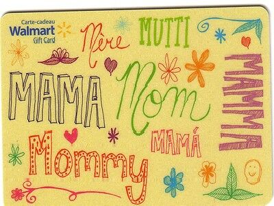 Walmart MOTHER'S DAY COLLECTIBLE Gift Card Bilingual RECHARGEABLE No Value