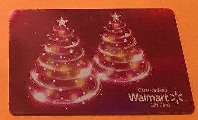 2017 Gift Card Walmart Holiday Canada Bilingual No Cash Value