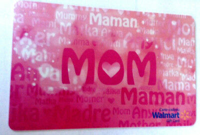 2018 Gift Card WalMart MOTHER'S DAY NO VALUE RECHARGEABLE