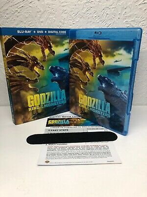 Godzilla King of the Monsters 2019 Blu Ray + Digital HD (NO DVD INCLUDED) Read