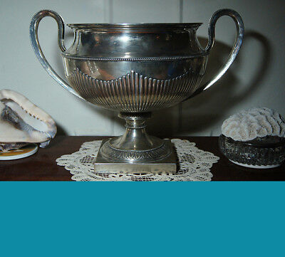 Magnificent large German 800 silver 2 Handles PALACE VASE 1770 grams