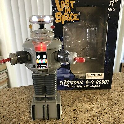 "Diamond Select Lost In Space 11"" Electronic B-9 Robot Lights Sounds"