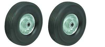 "2pc 10"" inch SOLID RUBBER DOLLY WHEELS New Tire Rim wheel Hard Heavy duty cart"