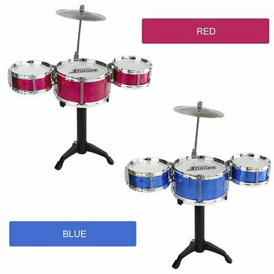 3-Piece Kids Drum Set Children Junior Drums Kit Percussion Musical Instrument O@