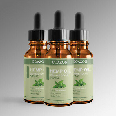 Organic Hemp Oil for Pain Relief Sleep Aid Anti Stress 5000mg Extract Drops