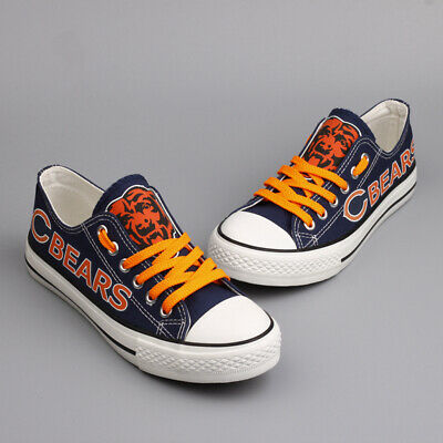 Chicago Bears Canvas Print Shoes NFL