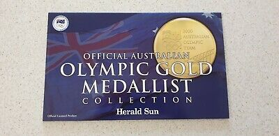 Complete set of 2000 Olympic coins gold medals 20/20 Sun Herald Australia