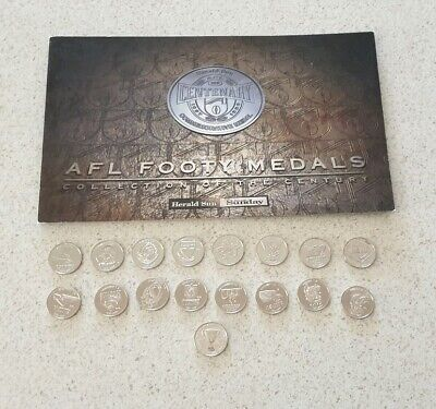 Complete set of 1996 Sun Herald AFL footy centenary coins medals