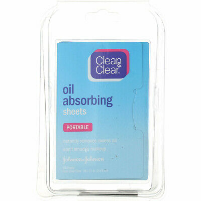 4 Pack Clean & Clear Oil Absorbing Cleansing Sheets, 50 Ct