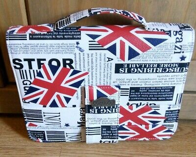 Genuine Bagabook Union Jack Executive Holder Book Journal New Without Tags