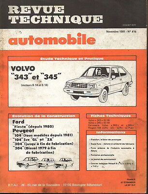 RTA revue technique automobile n° 416 VOLVO 343 345