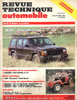 RTA revue technique automobile N°529/530 JEEP CHEROKEE turbo diesel 4.0 litre