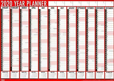 A1 Large 2020 Full Year Planner Wall Calendar Diary Organiser Family Office 3819