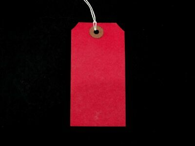 Luggage Tags Hardware Labels Red Large Strung Tags - various sizes