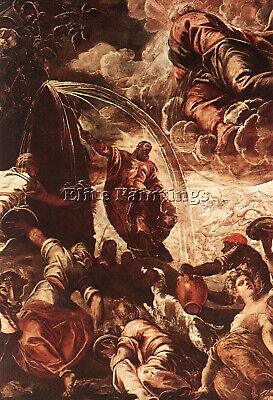 Tintoretto Moses Drawing Water From Rock Detail1 Artist Painting Oil Canvas Art